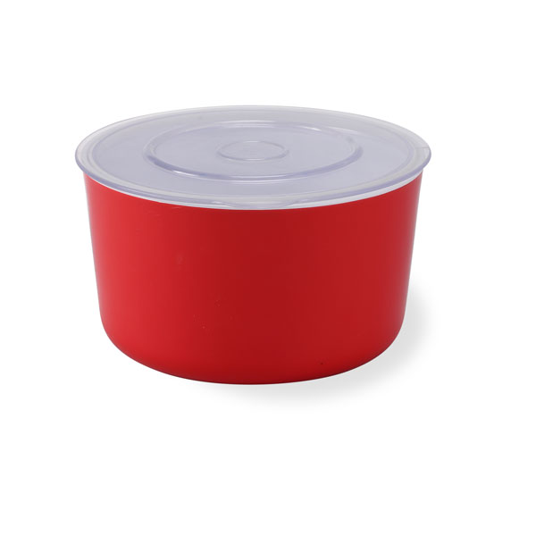 Mina Container Small-White & Red