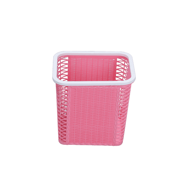 Net Paper Basket Without Ring - Pink
