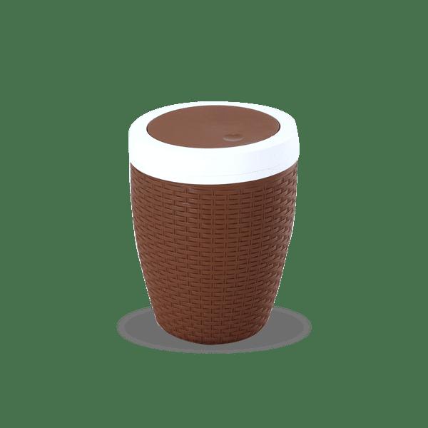 Cane Paper Basket-Eagle Brown