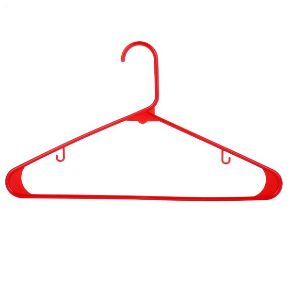 Light Shirt Hanger 42CM 6 Pcs Set -Red