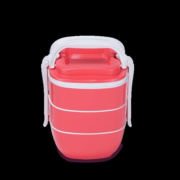 Sysco Tiffin Box-SQ Three Bati-Pink