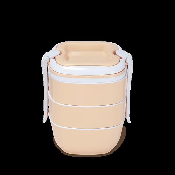 Sysco Tiffin Box-SQ Three Bati-Cream