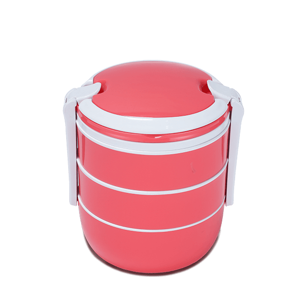 Pito Tiffin Box Three Bati-Pink