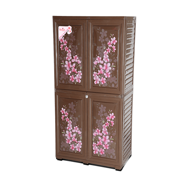 Royal Almirah- Knock Down -Rose Wood-Flora