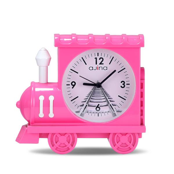 Train Clock-  Pink
