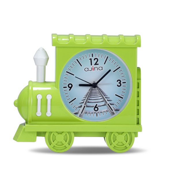 Train Table Clock-Green