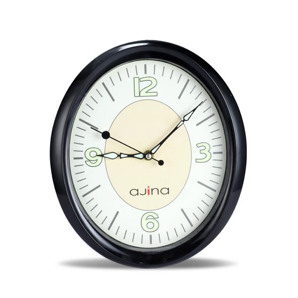 Mason Wall Clock Oval- Black