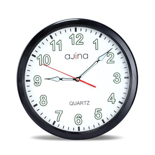 Jordi Wall Clock Round- Black