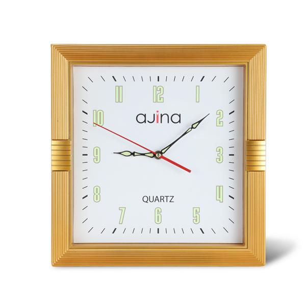 Kito Wall Clock Square-Golden
