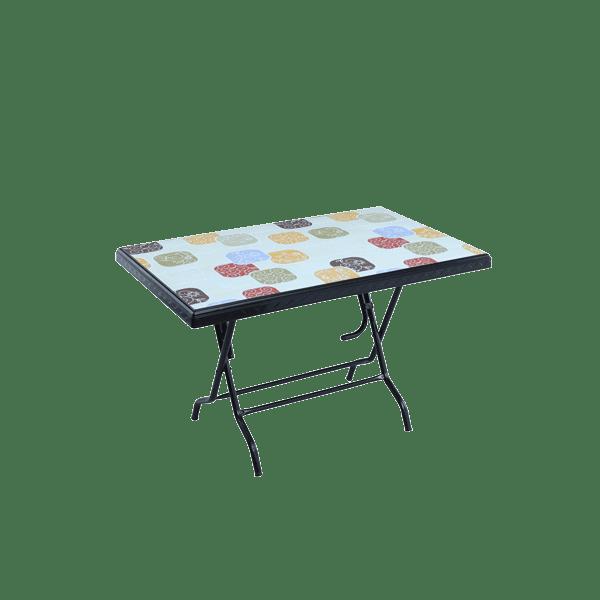 Deco Table 4 Seat S/L Print Park - Black