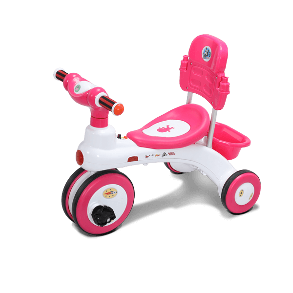 Rock Rider With Backrest-3Y-Pink