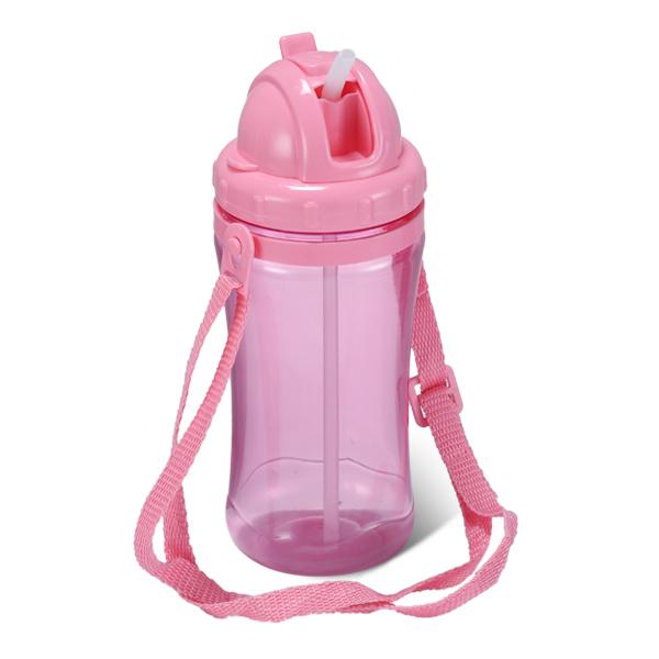 Happy Kiddo Water Bottle 450 ML- Tr Pink