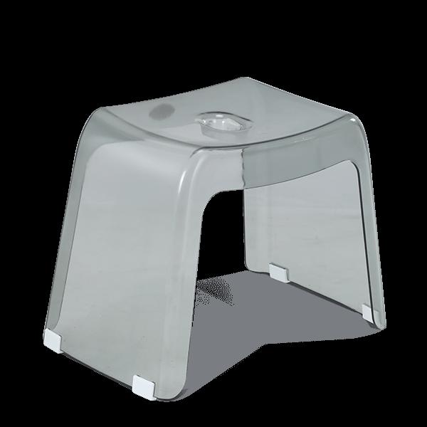 Transpa Deluxe Stool - Trans Gray
