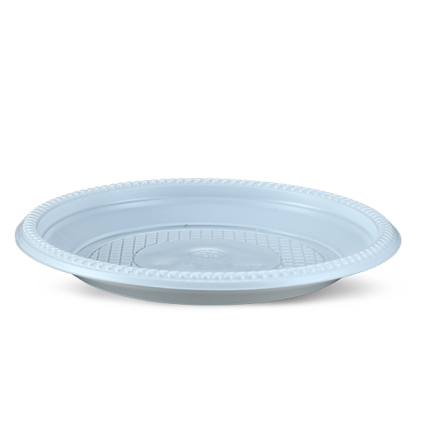 Plate  50 Pcs Set- 16 CM-White
