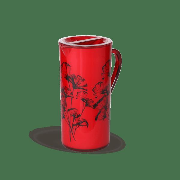 Samira Round Jug 1.8L - Trans Red