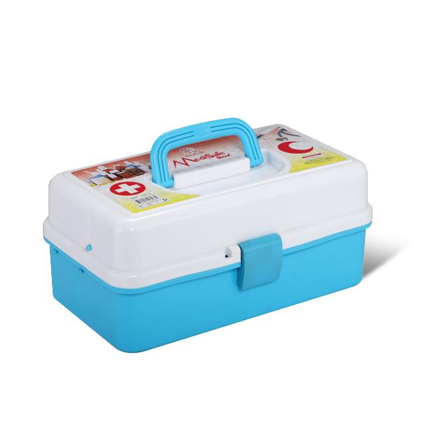 Medi Safe Box -Light Blue & White